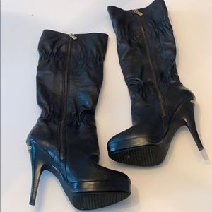 Michael Kors Black Leather Tall Boots